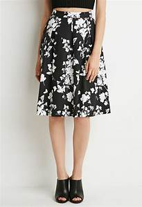 Lyst - Forever 21 Floral A-line Skirt in Black