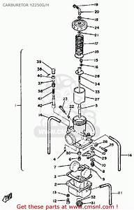 Yamaha Yz250 H Competion 1980  1981 Carburetor Yz250g  H