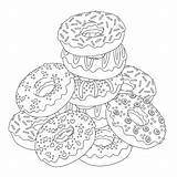 Coloring Donuts Printable Template Visiting Thanks Above Admin Published sketch template