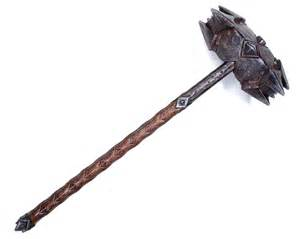 Dwarven War Hammer Weapon