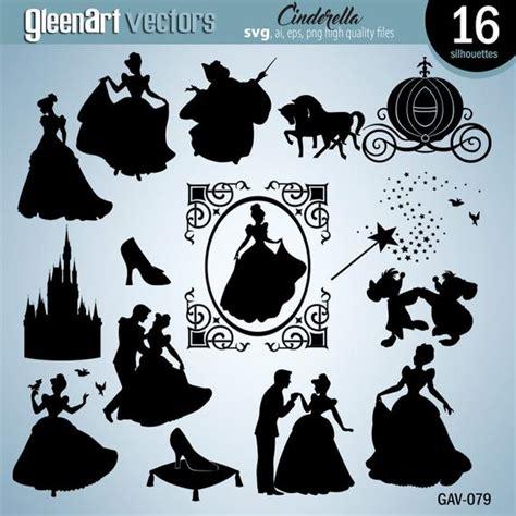 cinderella silhouettes disney princess cinderella svg cut