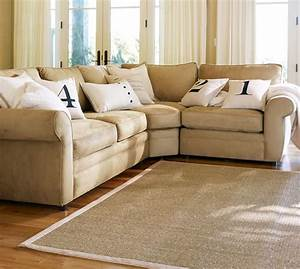 Quick ship pearce upholstered 3 piece sectional with wedge for Pottery barn 3 piece sectional sofa
