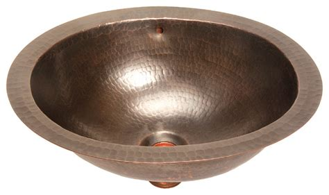 Foret Copper Sink by Foret Model Bfc11 Orb Small Oval Lavatory Self