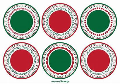 Label Blank Christmas Labels Decorative Vector Tags