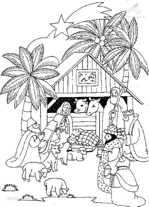 Kerst Kribbe Kleurplaat by Kleurplaat Kribbe Jezus