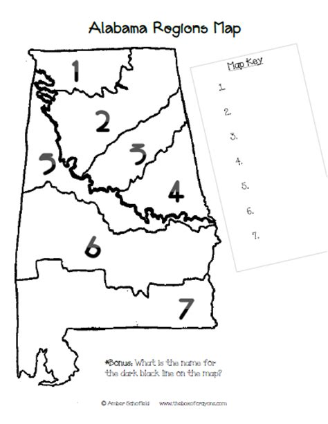 The Box Of Crayons Blog Alabama Regions Map At Home Project