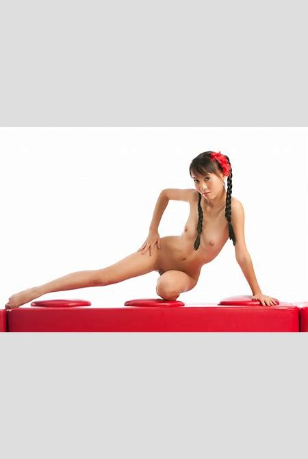 Nude chinese girl Annie Xie with long pigtails