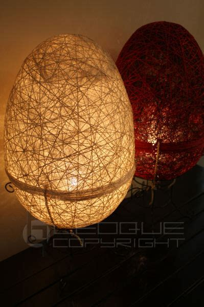 egg shaped native abaca lamp leoque collection