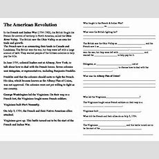 American Revolution Interactive Notes Ss By Cammie's