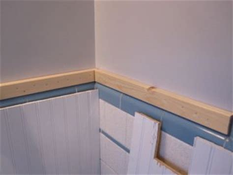 White Beadboard Applied Directly Over Tile My Pink