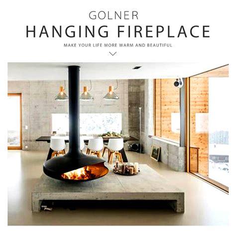 high quality  oval hanging wood fireplacewood burning