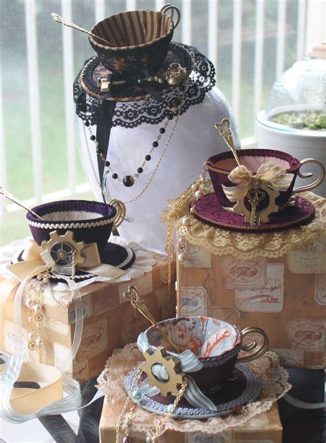 darling tea cup hat topper  tea cup hat decorating