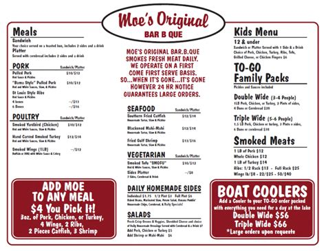 Bbq Pit Sinking Menu by Welcome Moe S Original Bbq To Tahoe City Tahoe City