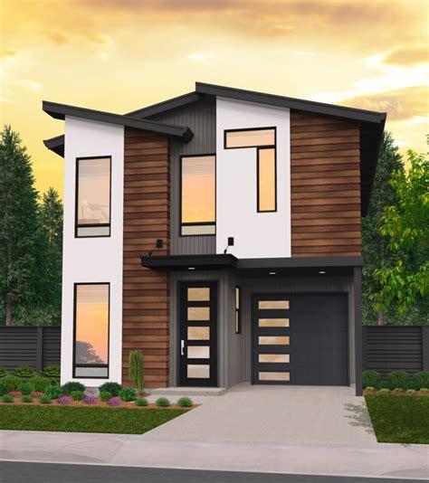 Country Air Skinny Modern House Plan by Mark Stewart