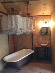 clawfoot tub bathroom design sewing machine sink clawfoot tub shower curtain bathroom repurposed