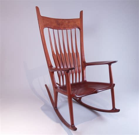 maloof inspired sculpted rocking chair with william ng