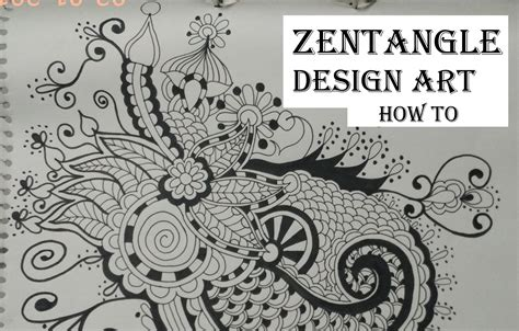 How To Design A Flower Garden Step By Step how to draw complex zentangle design for beginners