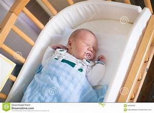 Newborn Baby Boy In Hosptal Cot Stock Photo - Image: 62608358