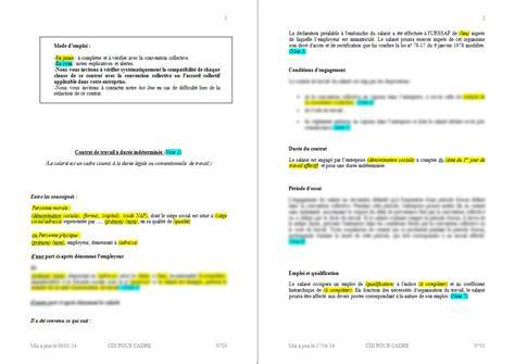 modele contrat de travail cdi cadre document