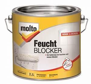 Farbe Gegen Feuchtigkeit : molto feucht blocker 2 5 l grundierung gegen feuchtigkeit und schimmel ~ Sanjose-hotels-ca.com Haus und Dekorationen