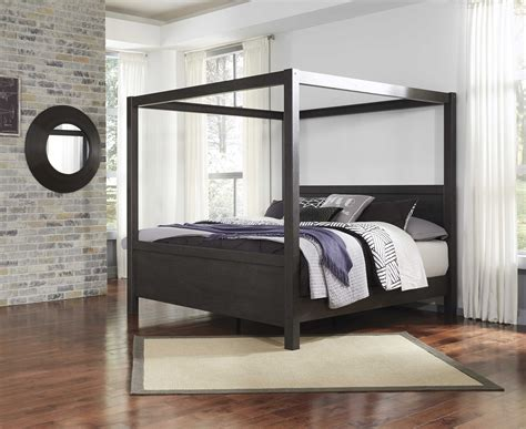 ashley furniture daltori king canopy poster bed