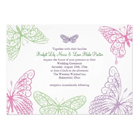 ideas  butterfly wedding invitations
