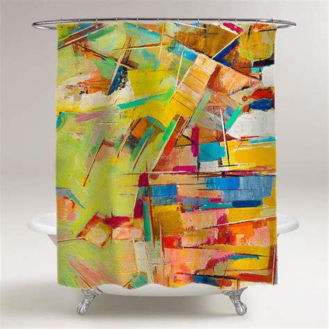 abstract colorful painting on canvas bathroom shower