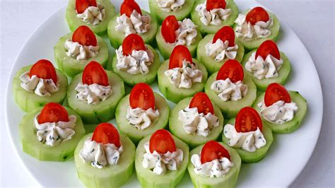 cucumber bites appetizers valya 39 s taste of home
