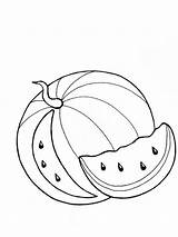 Watermelon Coloring Pages Printable Fruits Template Fruit Coloringhit Pineapple Recommended Colors Apple Strawberry Banana sketch template