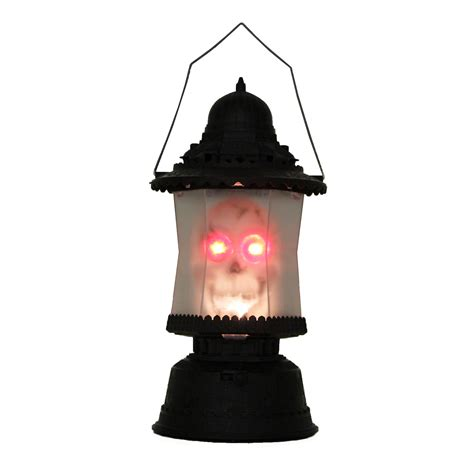 LED Skull Lantern Music Sounds Light up Scary Skeleton