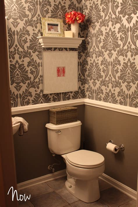 bathroom wallpaper ideas shush in your home part 2 powder room gets some jewelry Half