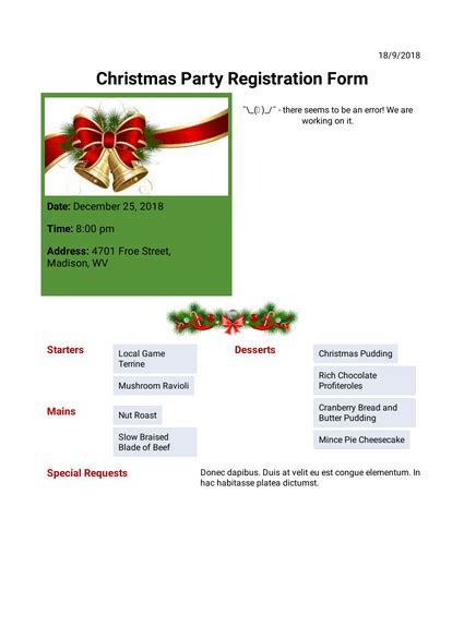 Christmas Party Invitation TemplateTemplates JotForm