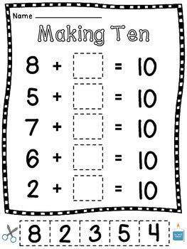 worksheets for making 10 making 10 worksheets 15 make a 10 cut sort paste practice sheets