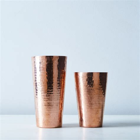 hammered copper boston shaker  food