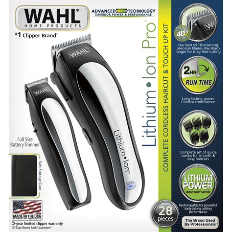 upc  wahl lithium ion clipper cordless clipper wahl