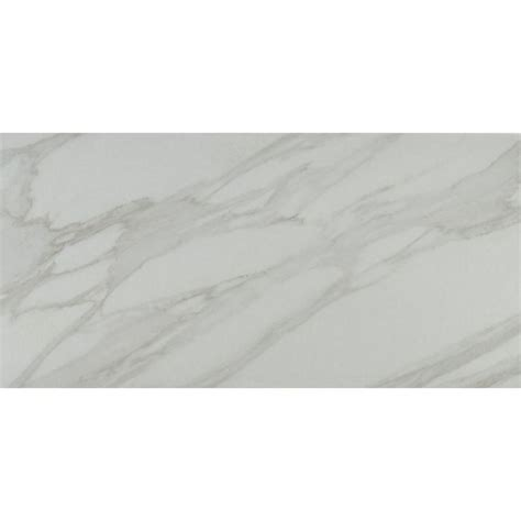 carrara porcelain tile ms international carrara 12 in x 24 in glazed polished porcelain floor and wall tile 16 sq