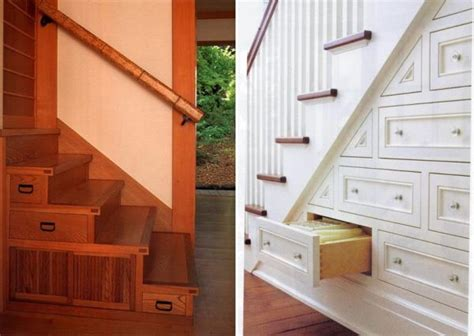 stairs storage ideas  small spaces making