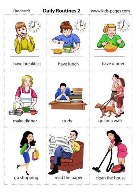 Daily Routine Clip Art