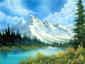 Mountain Landscape Painting Photography Background ...