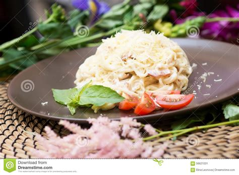 cuisine traditionnelle italienne carbonara de pâtes cuisine italienne traditionnelle