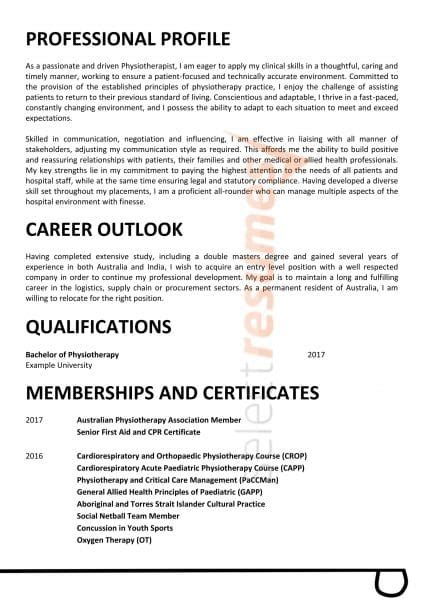age care physiotherapist design  select resumes