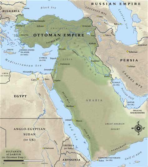 Ottoman Empire World War 1 by World War 1 Maps Geographx