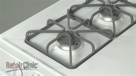 range burner grate replacement ge gas range repair part wbk youtube