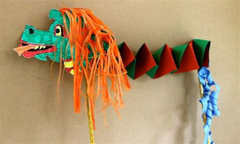 How To Make A Paper Dragon Boat by How To Make A Chinese Dragon Kidspot
