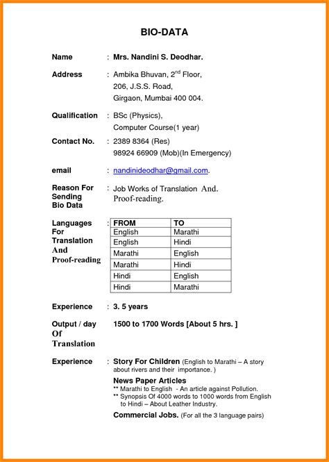 7 application letter with biodata pandora squared