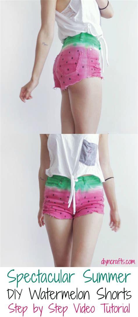 diys for summer spectacular summer diy watermelon shorts step by step video tutorial diy crafts