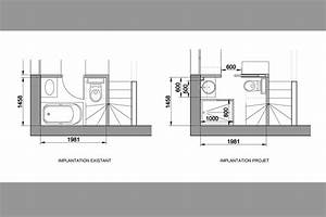 projets de salles de bains With plan salle de bain douche italienne