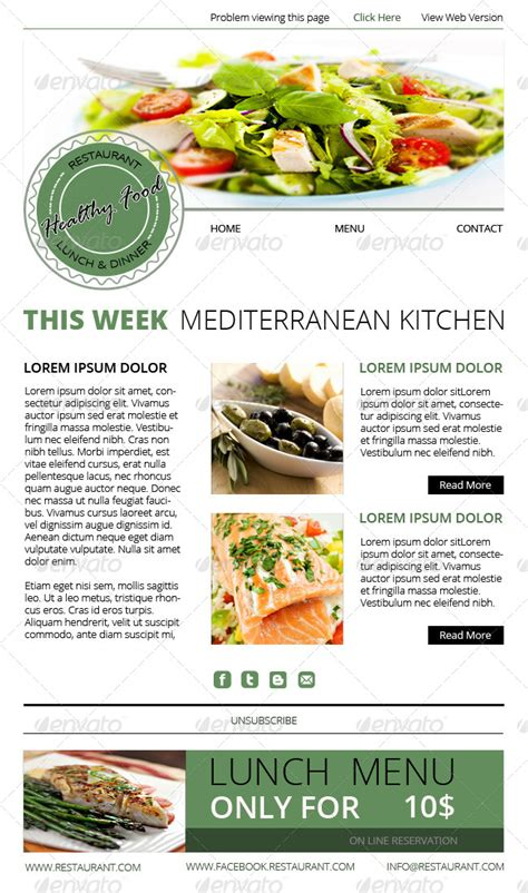 newsletter cuisine healthy food newsletter by k project graphicriver