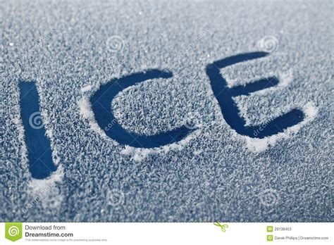 ice word  car frost stock  image