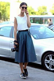Summer Midi Skirts and Sneakers Outfit